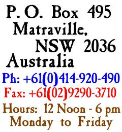 Walter Holt's Old Money - Postal Address and Telephone Numbers